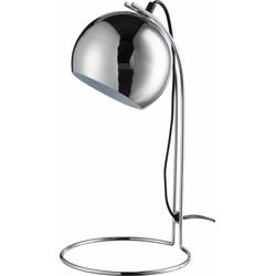 Seventies - Tafellamp - bol - zilverkleurig - dia 20x39cm