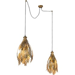 Vintage Pendant Lamp Leaf 2 Gold - Botanica