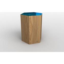 Hexa Cube - Kruk - transparant petrol blauw