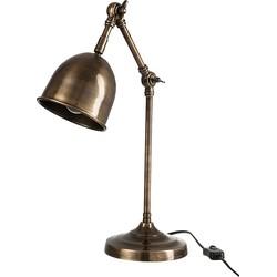 Wonen Landelijke Stijl by J-Line Bureaulamp Aluminium Verstelbaar 15 x 27 cm - Brons