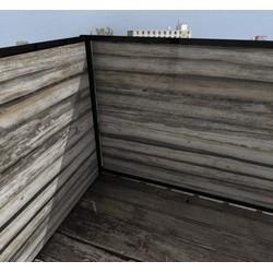 Balkonafscheiding planken horizontaal (100x100cm Dubbelzijdig)