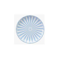 Little Venice Cake Company Coupe Plate, Blue/White, 16.5cm