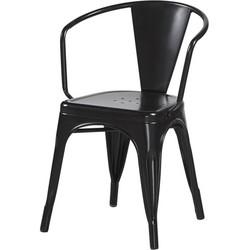 Retro stoel - zwart- set van 4