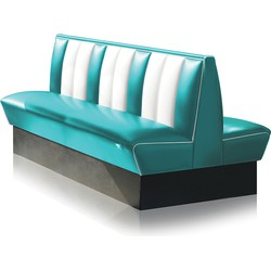 Bel Air Dinerbank Double Booth HW-150DB Turquoise