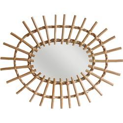 HK-living spiegel ovaal van wilgentakken 60x45cm