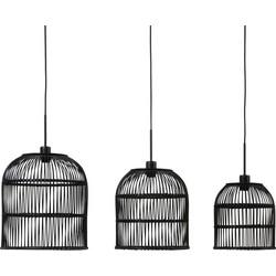 Hanglamp Molara hout zwart