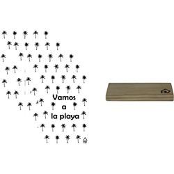 Kaarthouder+5 Kaarten A5 Palmbomen Vamos-10x15cm-Inclusief houten kaartenhouder naturel-Housevitamin