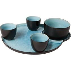 Cosy&Trendy Laguna Azzurro Snack- & Tapasschaal - Aardewerk - 5 delig