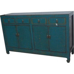 Fine Asianliving Antieke Chinese Dressoir Blauw