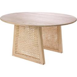 HKliving salontafel webbing met sungkai hout naturel medium