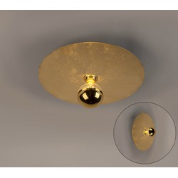 Modern Round Ceiling Lamp 40cm Gold - Disque