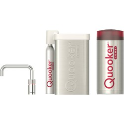 Quooker Nordic Square Single Tap Chroom met COMBI+ boiler en CUBE reservoir 5-in-1 kraan