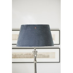Riviera Maison Velvet Lampshade Clams Grey