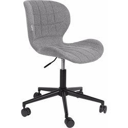 Zuiver Bureaustoel OMG - Verstelbare Zithoogte 44 - 56 Cm - Stof Grijs