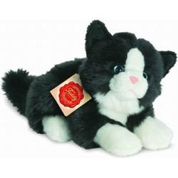 Knuffel Kat Zwart Wit - Hermann Teddy