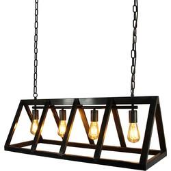 LABEL51 - Hanglamp Roof 95x35x38 cm - Industrieel - Zwart