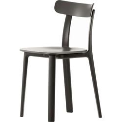 Vitra - All Plastic Chair, braun, Kunststoffgleiter (Teppichboden)