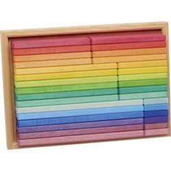 Blokkendoos Regenboog 32-delig Hout - Glückskäfer