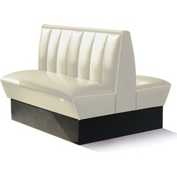 Bel Air Dinerbank Double Booth HW-120DB Off White