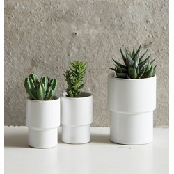 Planter Matt White - M incl. paper cross