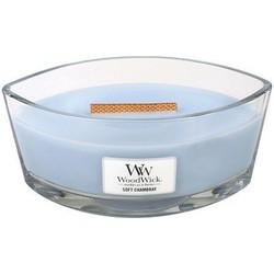 Woodwick Soft Chambray ellipse heartwick candle