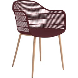 Tamy - Set van 2 stoelen - Bordeaux