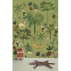 Jungle groen kinderbehang Studio Claas