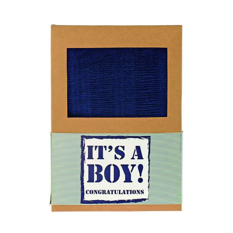 Plaid Boy blauw 120x150cm -
