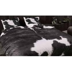 Dekbedovertrek Essenza Katoen-Satijn Cow - antraciet (Antraciet, 240x200/220)