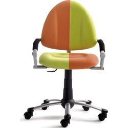 24Designs Kinderbureaustoel Skool Groen - Oranje