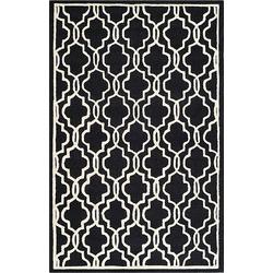 Tapijt Elle - zwart/crèmekleurig - 122x183cm, Safavieh