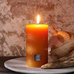 Rivièra Maison Rustic Candle Ocher Yellow 7x13 cm