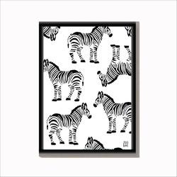 Dierenposter Zebra - A3
