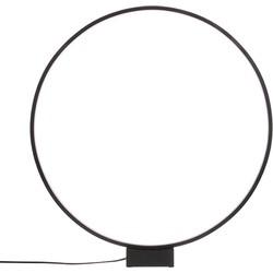 HKliving tafellamp lichtgevende cirkel lamp zwart aluminium