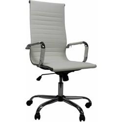 Design bureaustoel Mile hoge rug wit