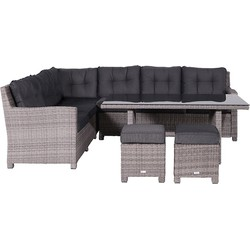 Garden Impressions Blue Bird lounge dining set L - organic grey