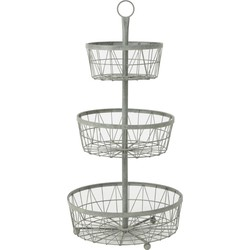 Light&Living Etagere Jagua Grijs 3 Laags 84 x Ø40.5
