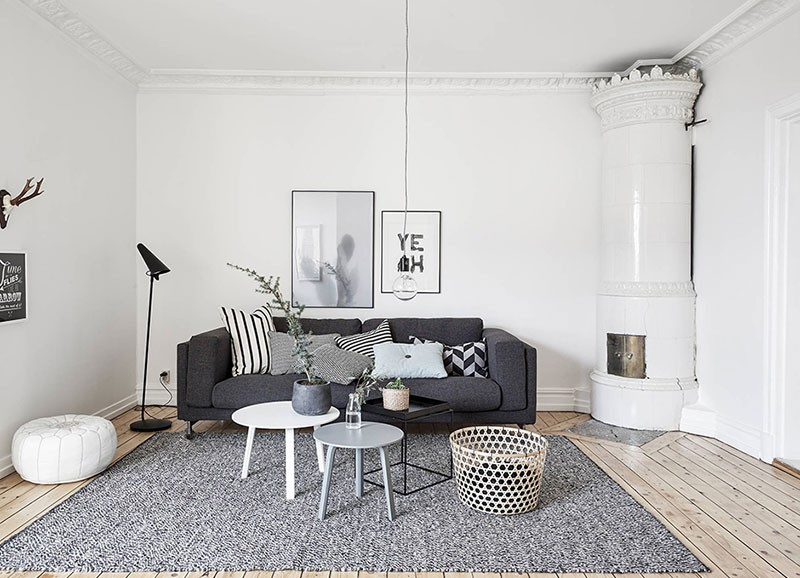 Swedish apartement in Monochrome