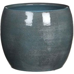 Mica Decorations lester pot rond blauw maat in cm: 18 x 20
