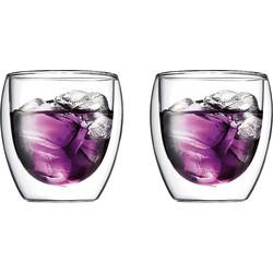 Bodum Pavina Dubbelwandig Glas Set van 2 - 0,25 L