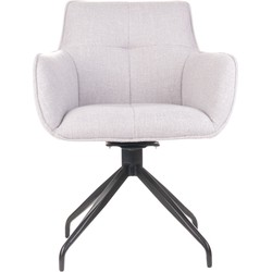O-form - stoel Moon - licht grijs