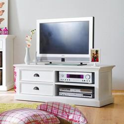 Novasolo Halifax Medium Mediakast Met 2 Laden - H45 Cm X B120 Cm X D45 Cm - Wit