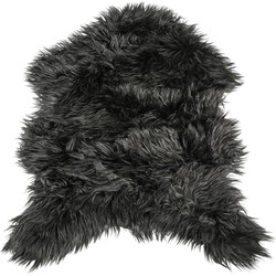 PTMD Faux Black fur sheepshape carpet