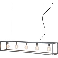 Modern Rectangle Pendant Lamp 5 Grey - Cage