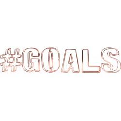 Dresz Decoratieve letters #Goals - Staaldraad - 44x9cm
