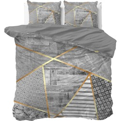 Dreamhouse Dekbedovertrek Graphic Grey-240x200/220