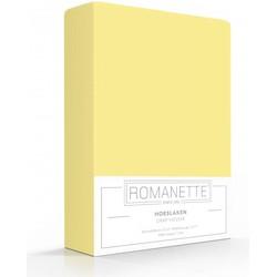 Romanette Hoeslaken Katoen - Geel Maat: 140x200cm