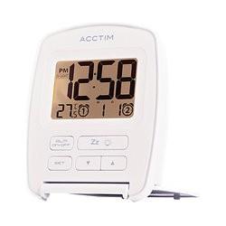 Acctim Erebus Flip Alarm Clock, White