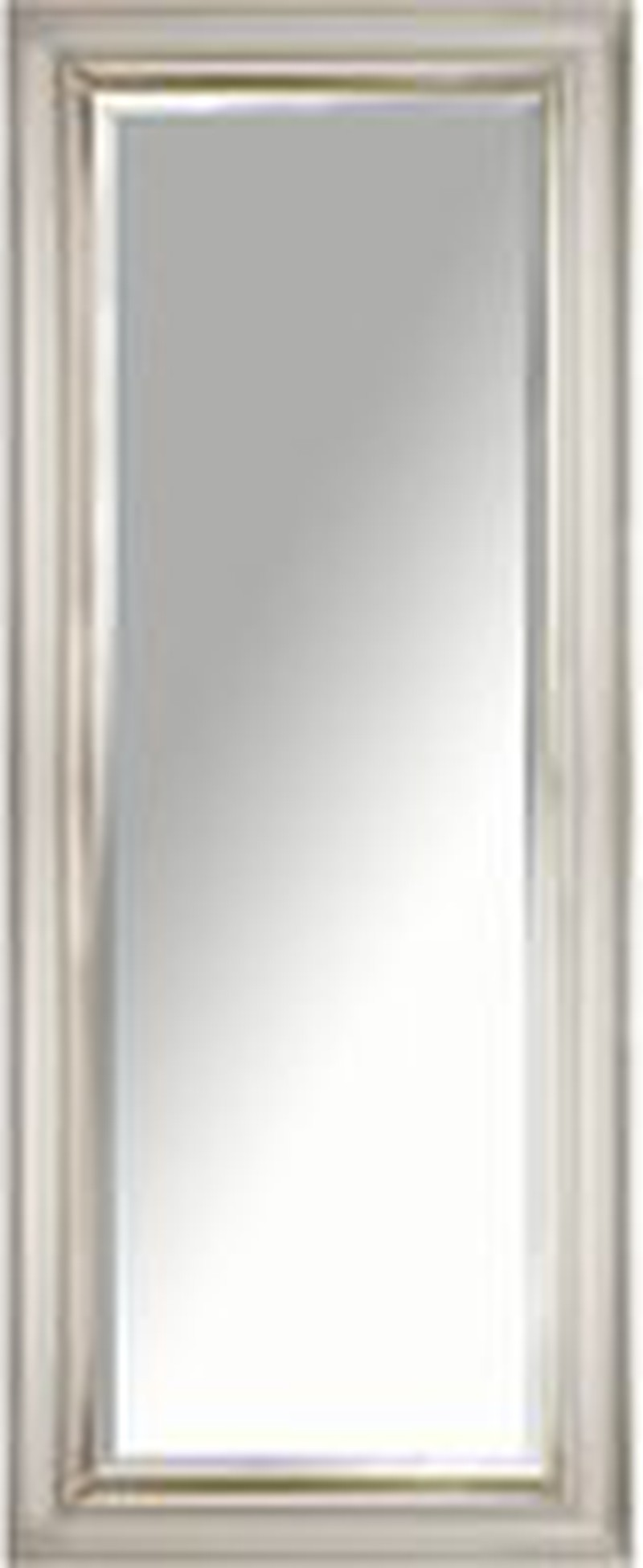 John Lewis & Partners Gold Line Bevelled Mirror, 135 x 55cm, Gold/Taupe -