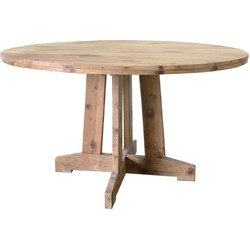 HK-living tafel rond teak hout 140x140x75cm